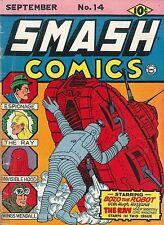 Smash Comics #14 Photocopy Comic Book, 1st Appearance of The Ray, Lou Fine Art