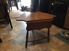 Vintage  DROP LEAF Triangular END / SIDE TABLE  Two Tier Scroll