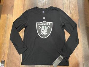 Las Vegas Raiders NFL Youth Boys Flux Long Sleeve Ultra Shirt Small (8) NWT