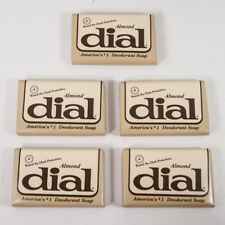 Lot 5 Vintage Hotel Sample Size Bars of Dial Almond Deodorant Soap 1980s
