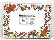 Photo Christmas Greeting Cards Gingerbread 12 Per Pack Laser Printer Friendly