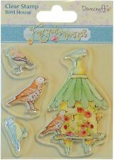 Birds BIRD HOUSE Clear Unmounted Rubber Stamps Set TRIMCRAFT DCCS010 New