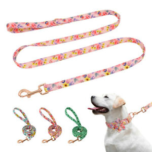 5ft Strong Dog Leash Cute Fancy Walking Lead Floral for Small Medium Large Dogs