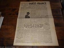 1944.Journal Ouest france N°13.21 aout.Saint-Malo De Gaulle.