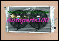 For FORD RADIATOR+Fans EF EF2 EL NF NL DF/L FALCON FAIRLINE 2 ROW 52mm ALUMINUM