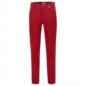 NWT Golfino Ladies SALOMÉ TROUSERS BRUSHED STRETCH 5367026 369 Red 4 6 10 12