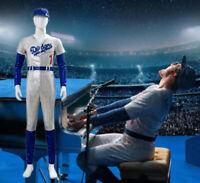 Rocketman Elton John Dodgers Baseball Uniform Cosplay Costume Halloween Suit