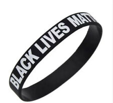 Black Lives Matter BLM ANTI RACISM Silicone Wristband.