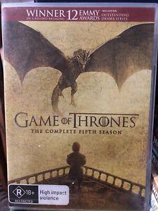 Game Of Thrones : Season 5 (DVD, 2016, 5-Disc Set)