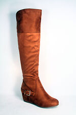 Women's Fringe Zipper Buckle Round Toe Ankle Knee High Wedge Shoes Size 5.5 - 10