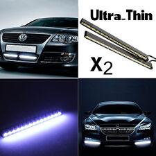 2pcs Ultra-Thin Car Fog Strip White LED DRL Driving Daytime Running Light Lamp