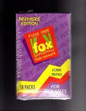 1995 Fleer Fox Network trading cards 18 packs  Sealed Box