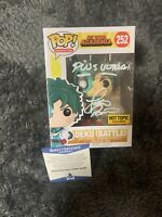 Justin Briner Signed DEKU BATTLE Funko Pop MY HERO ACADEMIA BECKETT COA D8