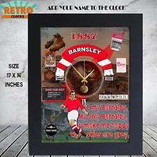 PERSONALISED BARNSLEY FC   RETRO FOOTBALL FANS l WALL CLOCK