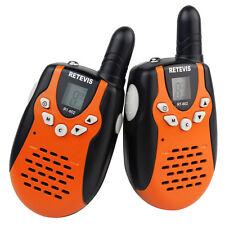 2x Retevis RT-602 Kids Walkie Talkie UHF 446MHz 8CH 0.5W for Children Radio Gift