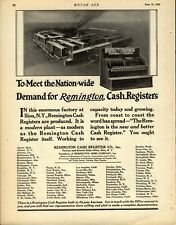 1924 Remington Cash Registers Company Ad: Ilion, New York - Picture of Factory