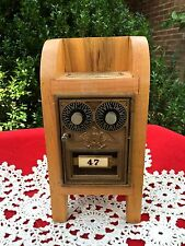 Antique US POSTAL LOCK BOX PIGGY BANK Combination Mechanical Handcrafted SAFE