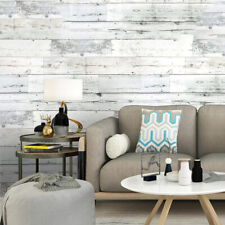 Realistic Wood Optic Plank Wood Panel Stripe Feature Textured Roll Wallpaper 6M