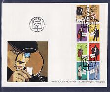 grande enveloppe 1er jour   bande personnages     ; 1996