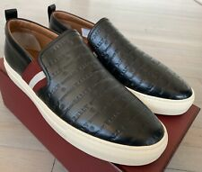 $550 Bally Herald New 00 Black Leather Slip on Shoes size US 11.5
