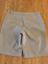 LIZ CLAIBORNE  Women's Walking Shorts Flat Front -Sz 8 100% Polyester