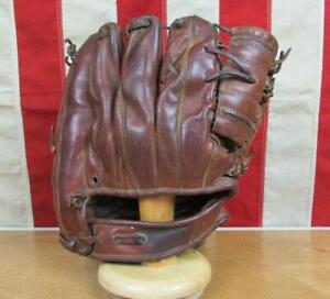 Vintage 1950s Everlast Leather Baseball Glove Glovemaster Fielders Mitt Rare!