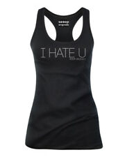 Mujer Aesop Originals I Hate You Racerback Depósito Top Negro SMALL-2XLARGE
