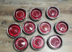 1974-1978 AMC matador coupe LH & RH rear taillight lens & housing lot of 10 oem