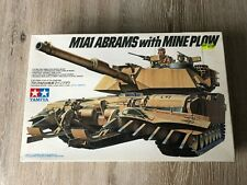 Tamiya NO.158 M1A1 Abrams with Mine Plow 1/35 100% Complete.