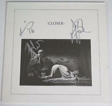 "JOY DIVISION Signed Autograph ""Closer"" Album LP by All 3 Members NEW ORDER"