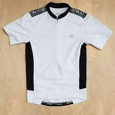 Men's Pearl Izumi Select Cycling Jersey white black gray bottle pockets Size S