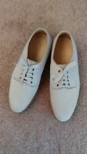 Rare Giorgio Armani Mens Beige Leather Nubuck Lace-up Oxford Shoes Size 8.5M
