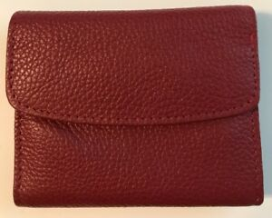Buxton Genuine Leather Tri Fold Mini Wallet In 5 Colors