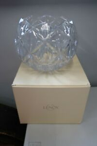 """Rose Bowl CRYSTAL  Shooting Star by Lenox 8"""" NEW IN THE BOX"""