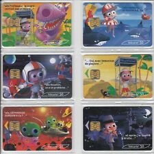 6 TELECARTE / PHONE CARD .. FRANCE 50U PACK ART BD COMICS ESPACE PUCE C.12€