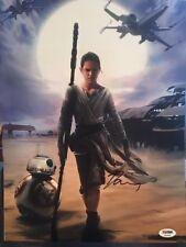 Daisy Ridley Last Jedi Signed Star Wars-Force Awakens-12x14 Photo of Rey-PSA