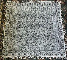 "Persian Ghalamkar Hand-printed Tapestry Table Cloth Calico Wall Hanging (31*32"")"