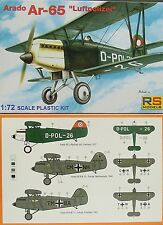 Arado 65 Luftpolizei  , RS Model, 1:72, Plastik, NEU