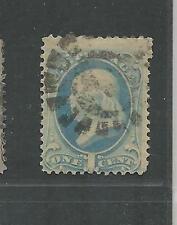 U.S. Type A44 Ben Franklin 1c Single Stamp SC 182