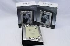 """Godinger Satin Silver Plated Rose Photo Albums 4x6"""" Holds 100 ea Lot of 2"""
