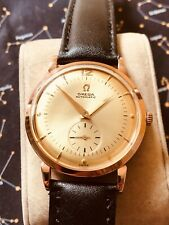 Vintage early 1949 Solid 18k Pink gold Omega Auto men's watch, Ref  2398