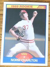 NORM CHARLTON 1989 Score Rookie Baseball Card #646..  (Mint)