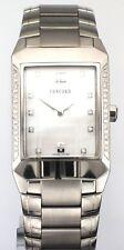 Unisex Concord Carlton Steel Mother of Pearl Diamond Set Quartz Bracelet Watch