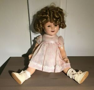 """Vintage Composition Shirley Temple Ideal 16"""" Doll"""