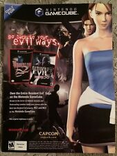 Resident Evil 2 and 3 Poster Ad Print Capcom Survival Horror Gamecube