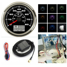 LED MPH Km/h ATV Motorcycle GPS Speedometer Digital Odo Mileage Gauge Screw on