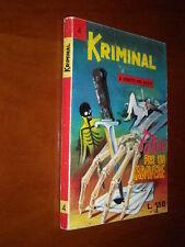 KRIMINAL n. 4 - POKER PER UN CADAVERE - QS/EDICOLA - nov. 1964