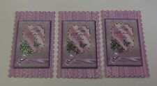 PK 2 LILAC SCENTED ROSE MOTHERS DAY TOPPERS FOR CARDS AND CRAFTS