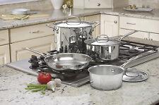 Cuisinart 7 Pc Cookware Set Kitchen Oven Pot Pan Skillet Sauce Stock Stovetop RV