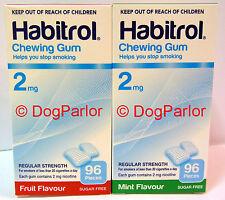 Habitrol 2mg MINT & FRUIT Nicotine Gum Combo 6 Boxes 576 Pieces